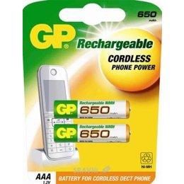 Батарейку, аккумулятор (AA/AAA/C/D) GP Batteries AAA 650mAh NiMh 2шт (65AAAHC)