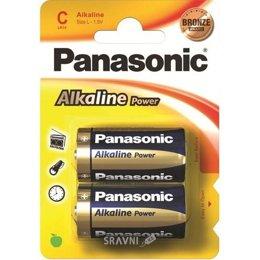 Батарейку, аккумулятор (AA/AAA/C/D) Panasonic C bat Alkaline 2шт Alkaline Power (LR14REB/2BP)
