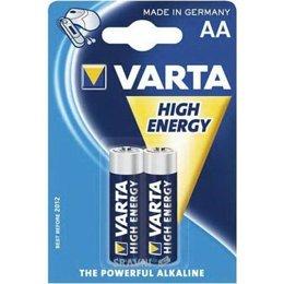 Батарейку, аккумулятор (AA/AAA/C/D) Varta AA bat Alkaline 2шт HIGH ENERGY (04906121412)