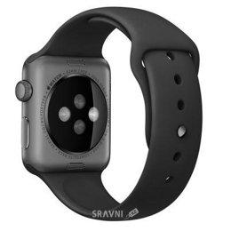 Ремешок для умных часов и спортивных браслетов Apple Black with Space Black Pin Sport Band для Watch 38mm MJ4F2
