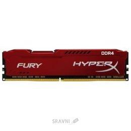 Модуль памяти для ПК и ноутбука Kingston 16GB DDR4 2666MHz HyperX Fury Red (HX426C16FR/16)
