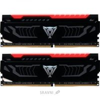 Patriot 16GB (2x8GB) DDR4 2400MHz Viper LED Red (PVLR416G240C4K)
