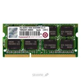 Модуль памяти для ПК и ноутбука Transcend 4GB SO-DIMM DDR3 1600MHz (TS512MSK64V6H)