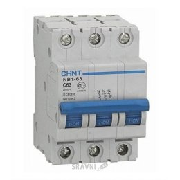 Автоматический выключатель Chint NB1-63 3P 6kA C 10A (179698)