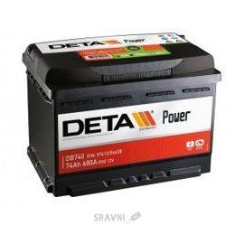 Аккумуляторную батарею DETA 6СТ-74 АзЕ Power (DB740)