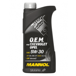 Моторное масло Mannol O.E.M. for Chevrolet Opel 5W-30 1л
