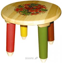 Стол, Стул детский Хохломская роспись Табурет (7406)