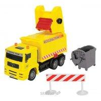 Dickie Toys Мусоровоз с контейнером и ограждением, 22 см (3343000)