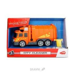 Машинку. Железную дорогу. Паровозик детский Dickie Toys Функциональный автомобиль Уборщик города (3302000)