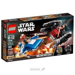 Конструктор детский LEGO Star Wars Истребитель типа A против бесшумного истребителя СИД (75196)