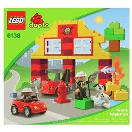 Конструктор детский LEGO Duplo 6138 Моя первая пожарная станция