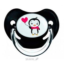 Товар для кормления детей Canpol Babies Пустышка силиконовая анатомическая 6-18 мес. Пингвин (22/584)