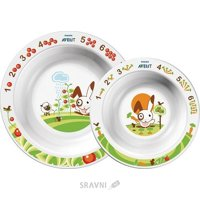 Товар для кормления детей Philips Набор тарелок 6 мес + (SCF708/00)