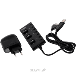 Картридер, USB-hub Ginzzu GR-487UAB