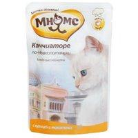 МНЯМС Влажный корм для кошек Каччиаторе по-неаполитански (курица с томатами) 0,085 кг