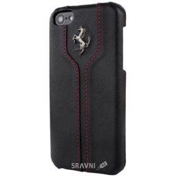 Чехол для мобильного телефона Ferrari Montecarlo leather cover case for iPhone 5C Black (FEMTHCPMBL)