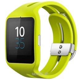 Умные часы, браслет спортивный Sony SmartWatch 3 SWR50 (Yellow)