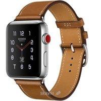 Смарт-часы, фитнес-браслет Apple Watch Series 3 Hermes (GPS) 38mm Stainless Steel Case with Fauve Barenia Leather Single Tour