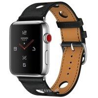Смарт-часы, фитнес-браслет Apple Watch Series 3 Hermes (GPS) 42mm Stainless Steel Case with Noir Gala Leather Single Tour Rallye
