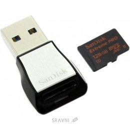 Flash Память (флешку, карту Памяти, SD, MiniSD, MiсroSD) SanDisk 128 GB Extreme PRO microSDXC UHS-II SDSQXPJ-128G-GN6M3